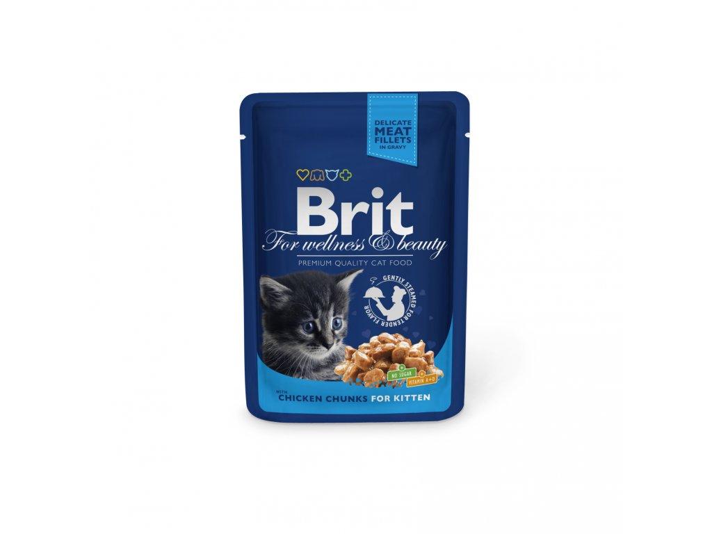 4353 kapsicka brit cat premium pouches kureci kousky pro kotata 100g