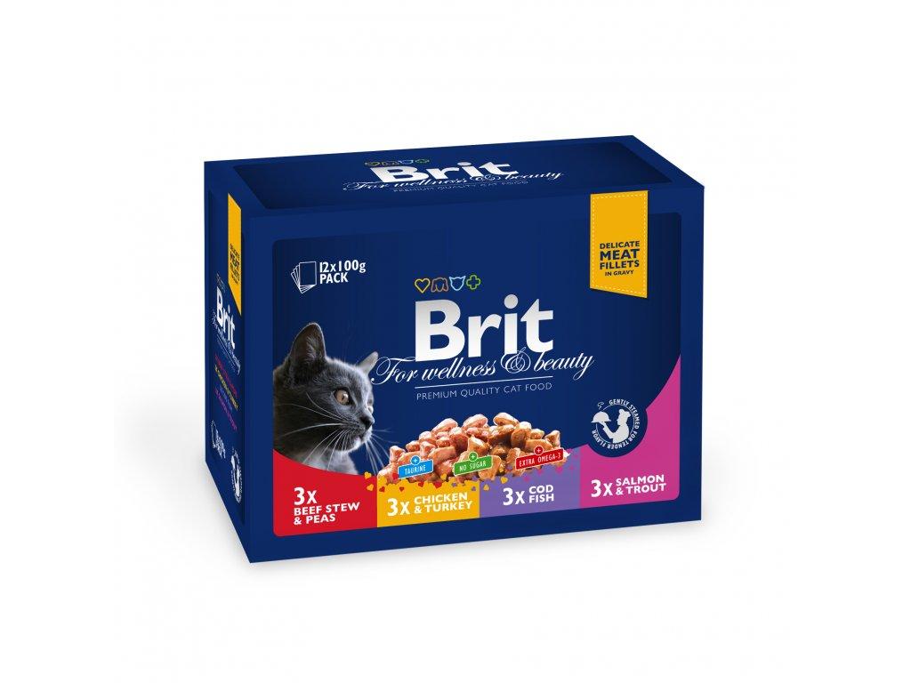 4365 kapsicka brit cat premium pouches rodina 12x100g