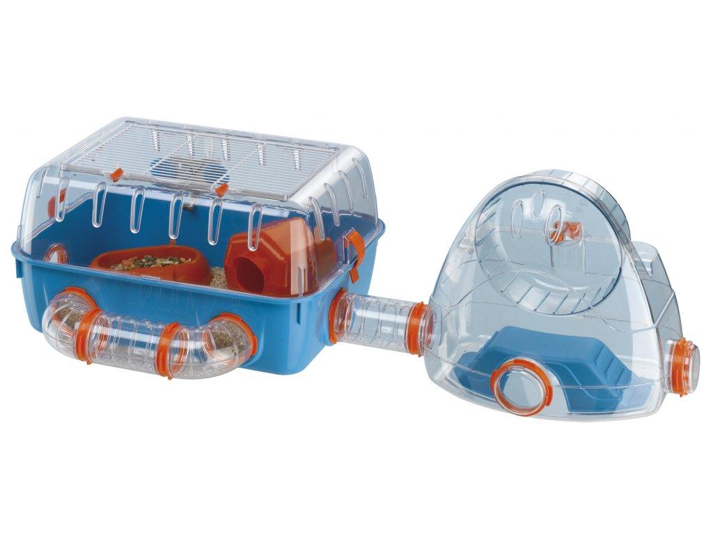 4527 ferplast plastova klec s tunelem pro hlodavce combi 2