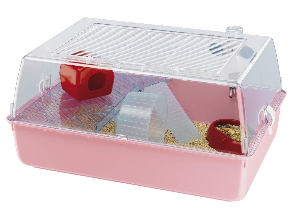 4566 ferplast plastova prepravka s vybavou pro male zivocichy mini duna multy