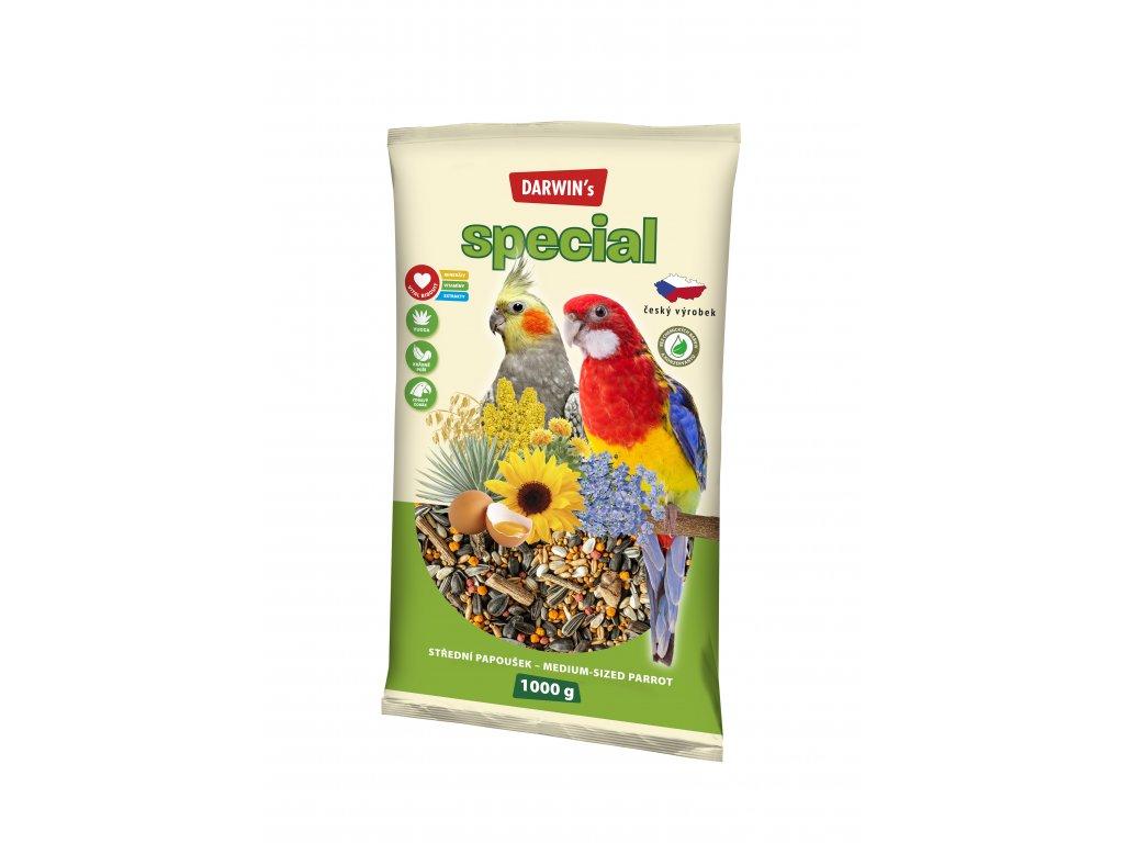 570 darwin s special stredni papousek 1kg