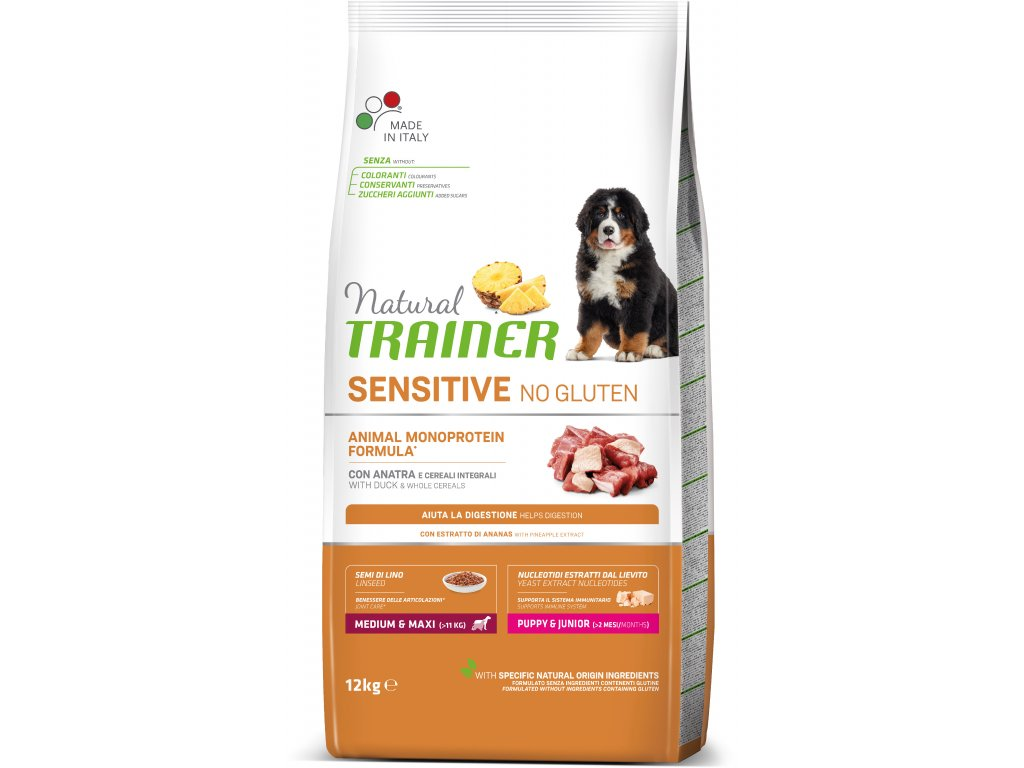 Trainer Natural Sensitive No glutén Puppy & Jun M / M kačica 12kg