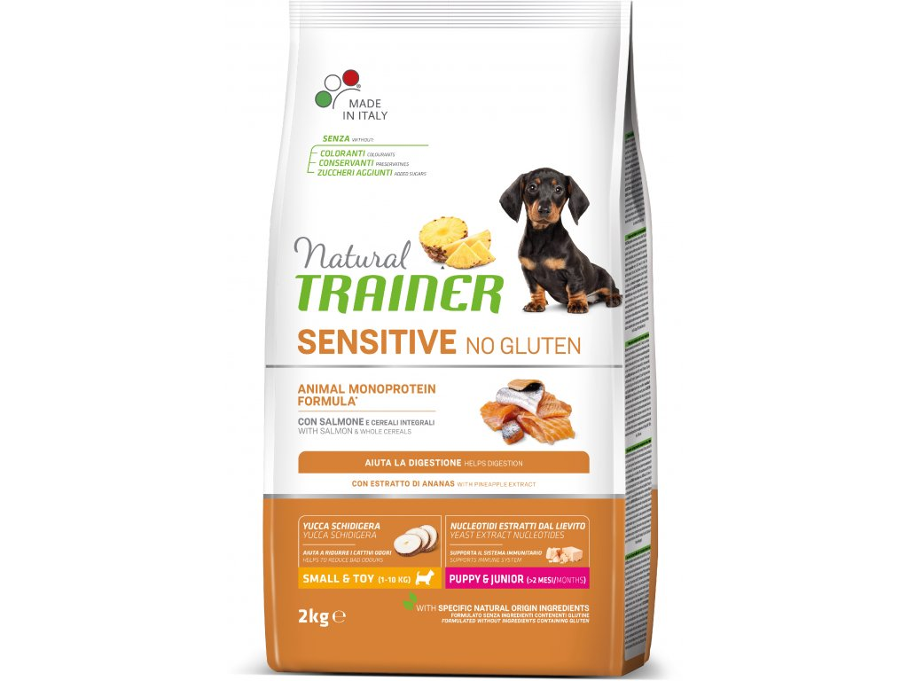 Trainer Natural Sensitive No glutén Puppy & Jun Mini losos 2kg