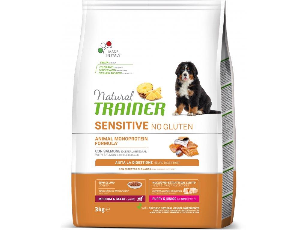 Trainer Natural Sensitive No glutén Adult M / M losos 3kg