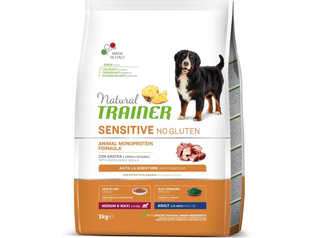 Trainer Natural Sensitive No glutén Adult M / M kačica 3kg