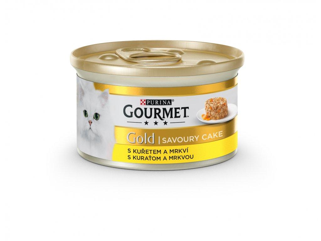 5370 konzerva gourmet gold sav cake kureci a mrkev 85g