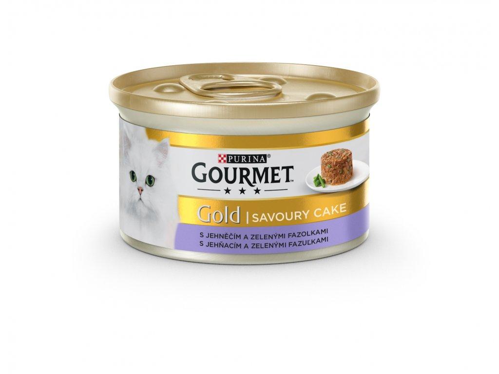 5373 konzerva gourmet gold sav cake jehneci a fazolky 85g