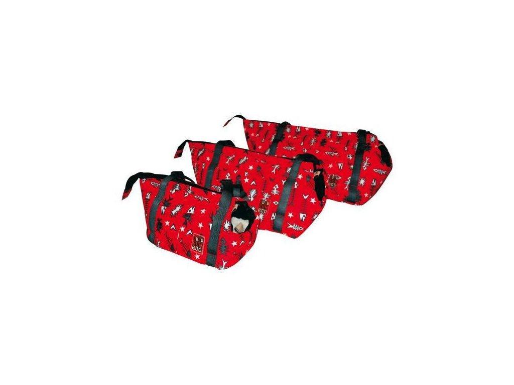 5409 taska huhubamboo cervena ryba 16x27cm