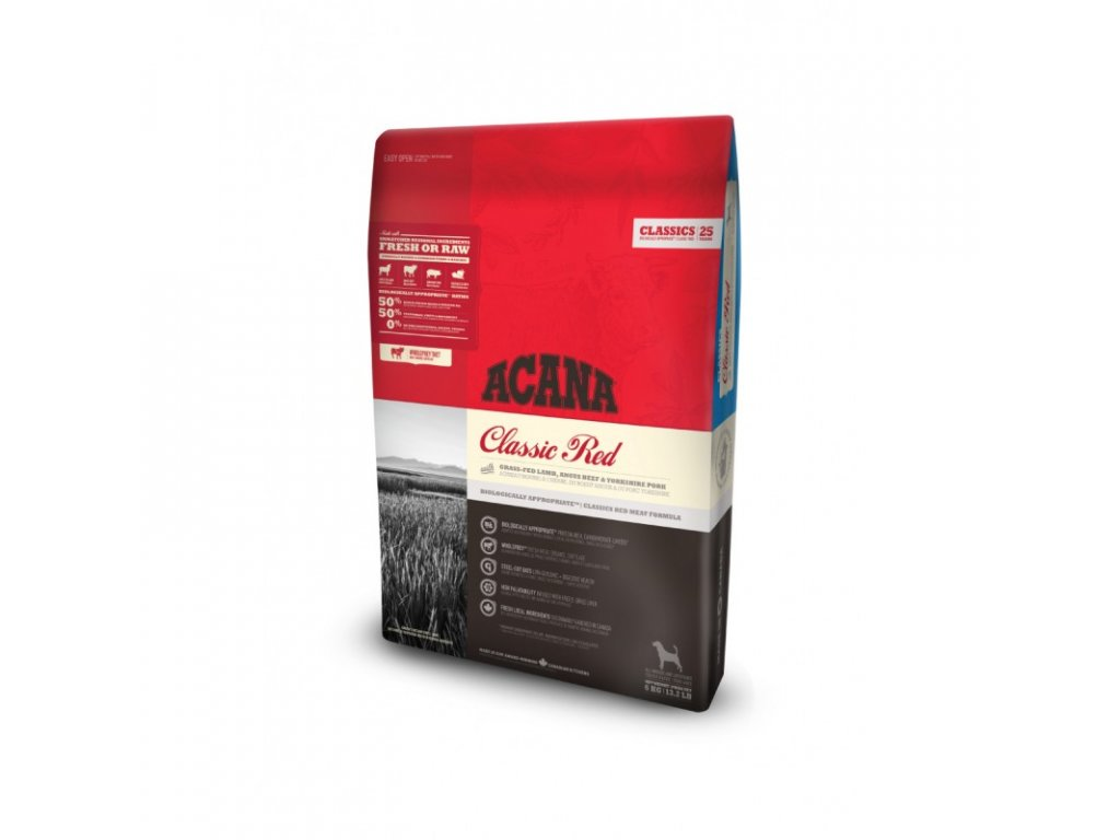 5700 acana classics 25 clasic red 6kg