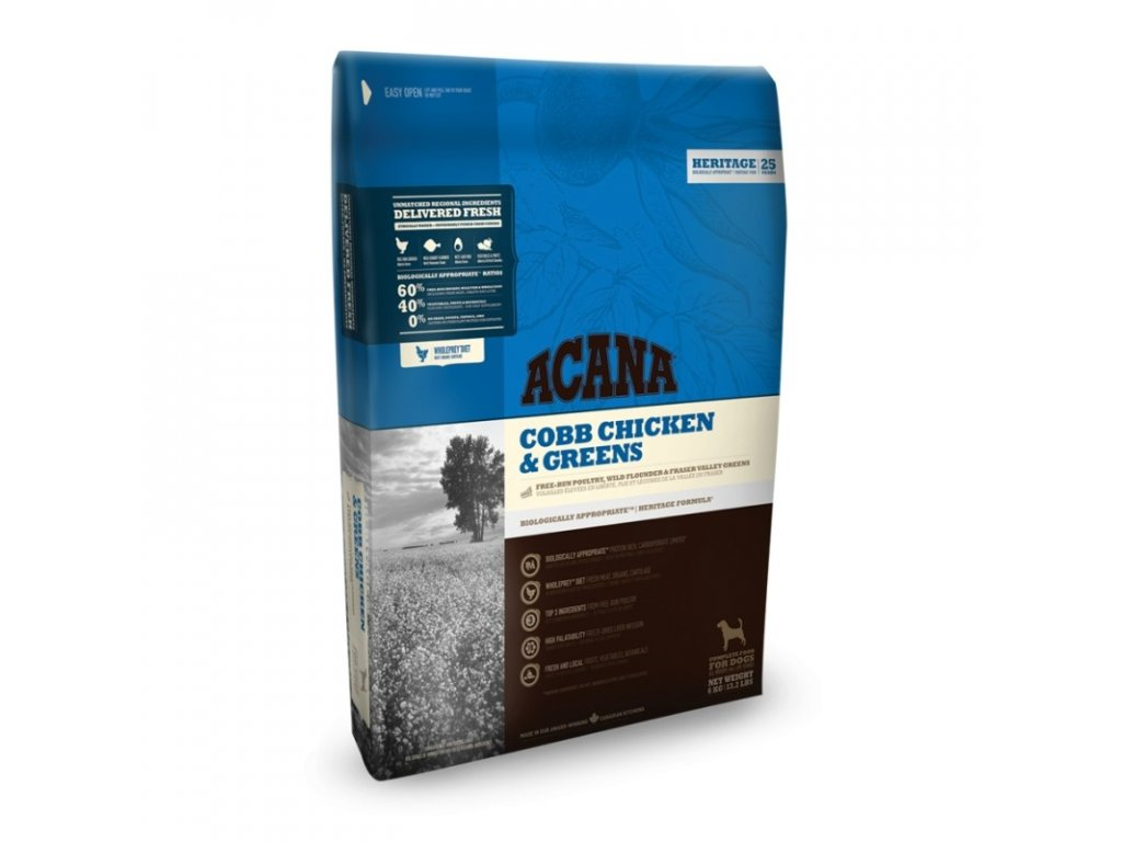 5754 acana heritage class cobb chicken and greens 2kg