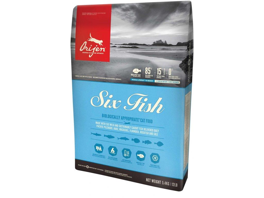 6000 orijen cat 6 fish 5 4kg