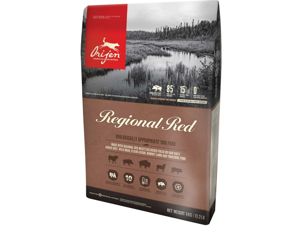 6066 orijen dog regional red 2kg