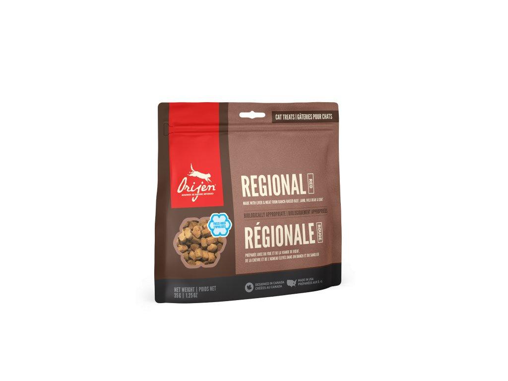 6105 orijen freeze cat snack regional red 35g