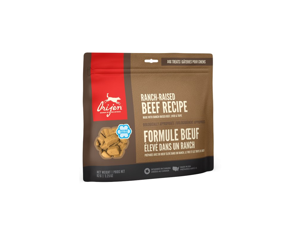 6144 orijen freeze dog snack black angus beef 92g