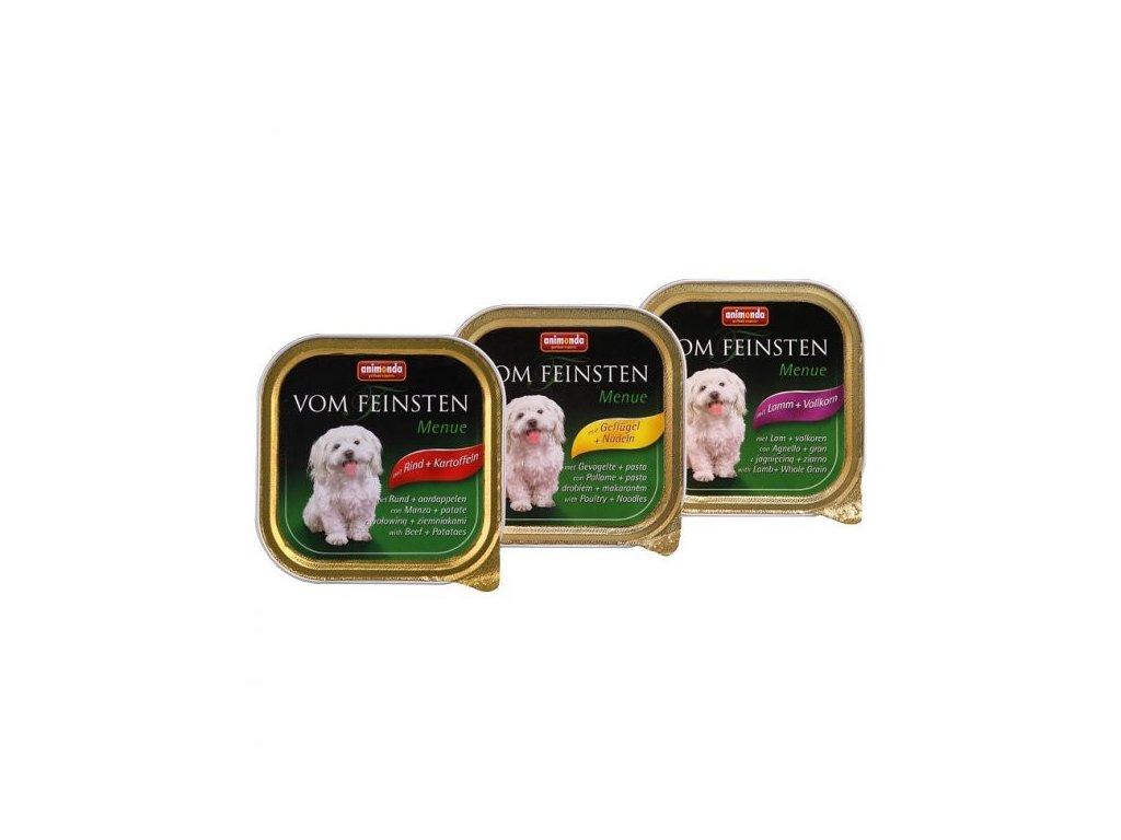 723 animonda vom feinsten menue pastika pro psy jehneci obiloviny 150g