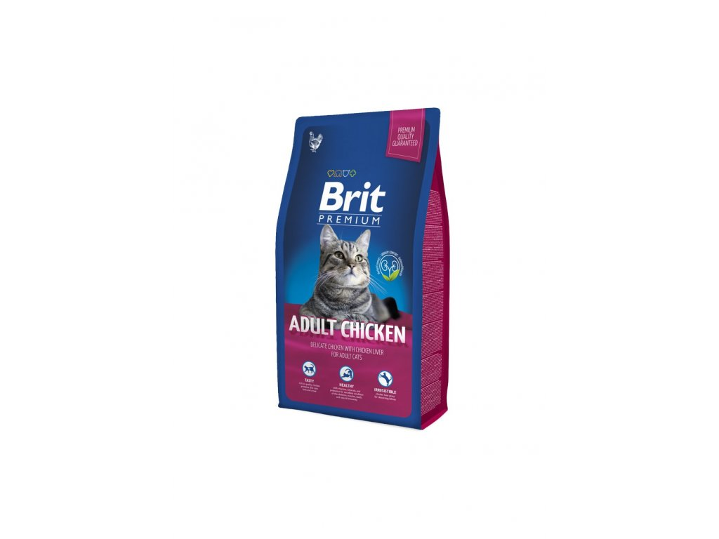 6534 brit premium cat adult chicken 8kg