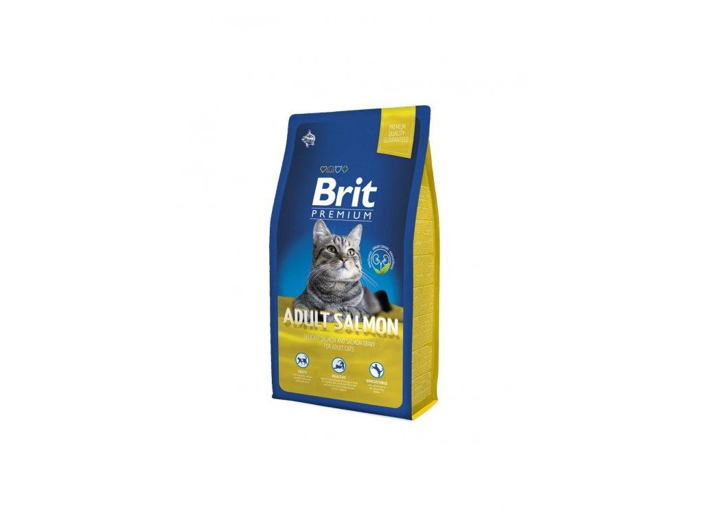 6537 brit premium cat adult salmon 8kg