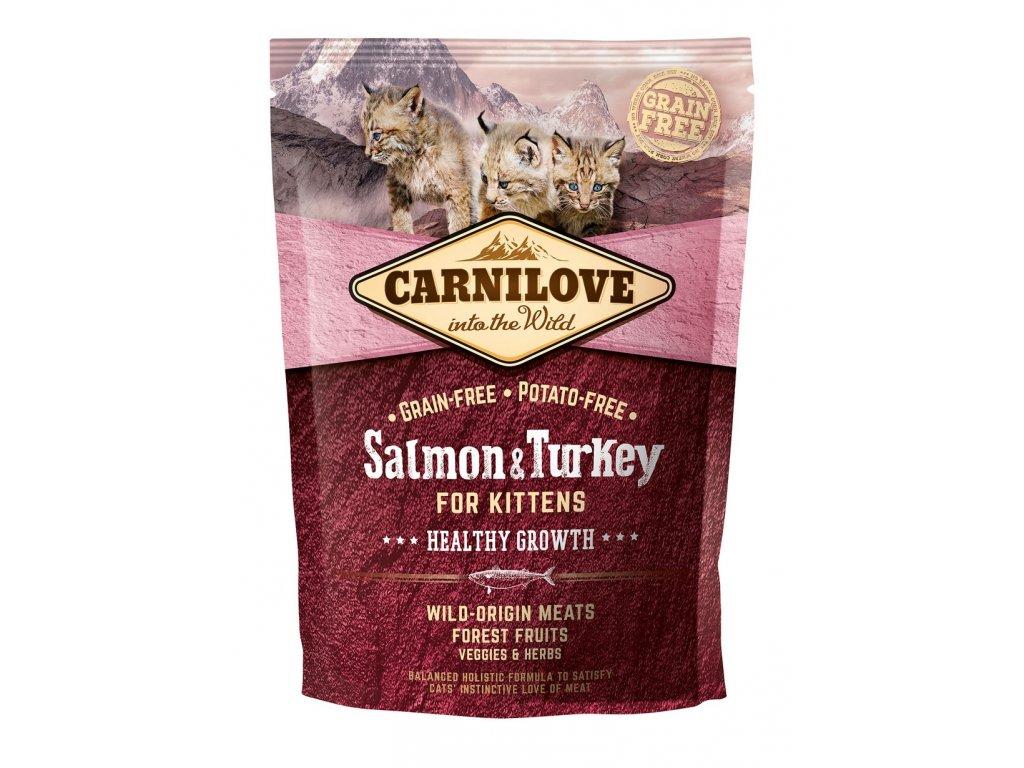 6639 carnilove cat grain free salmon turkey kittens healthy growth 400g
