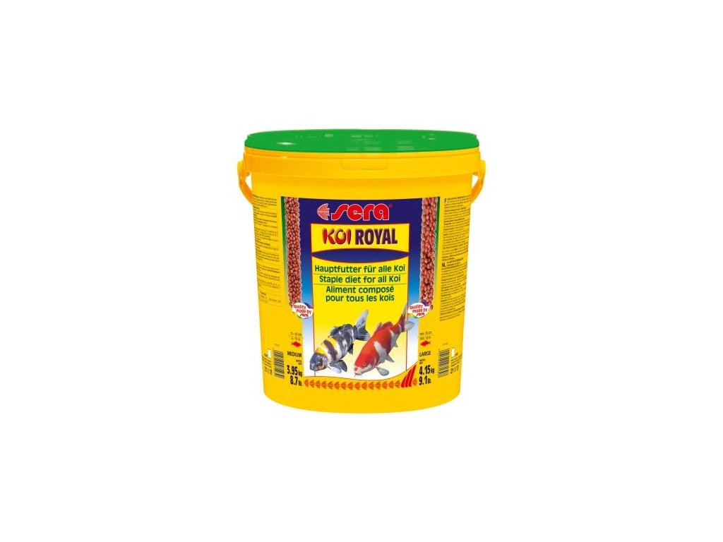 834 sera zakladnie krmivo pro koi a iostatni jezirkove ryby koi royal medium 20l