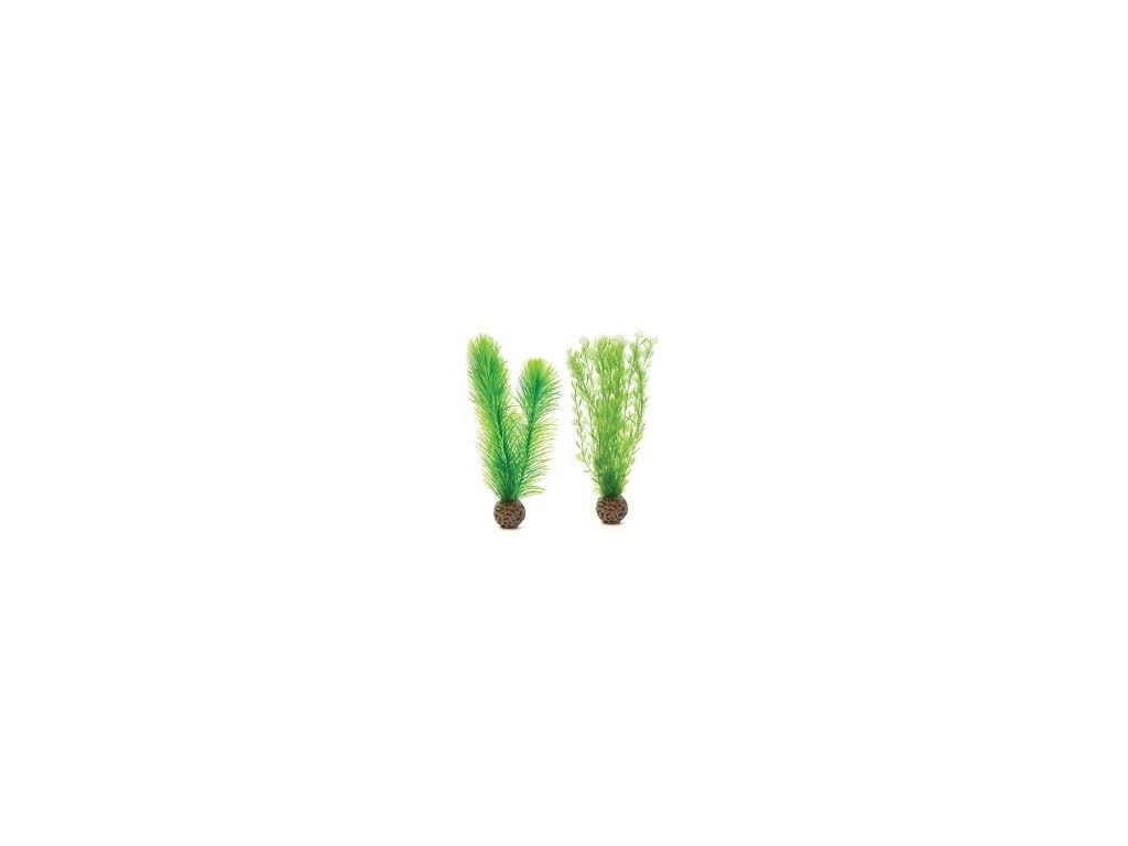 7560 biorb akvarijni dekorace kapradi zelene male 2 ks
