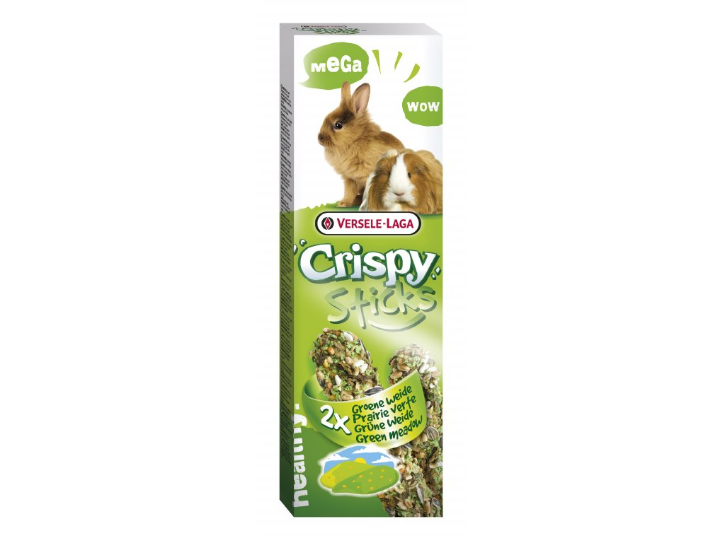 7566 versele laga crispy sticks tycinky zelena louka pro morcata a kraliky 2x55g