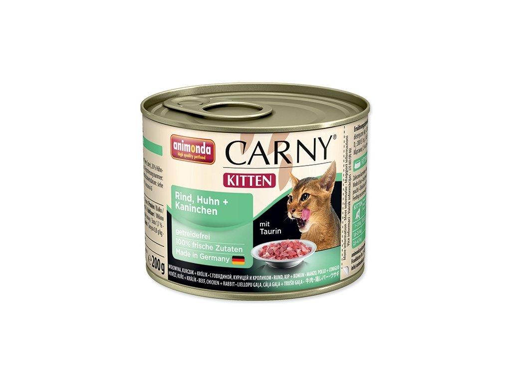 Animonda Carny Junior konzerva pre mačky kuracie + králik 200g