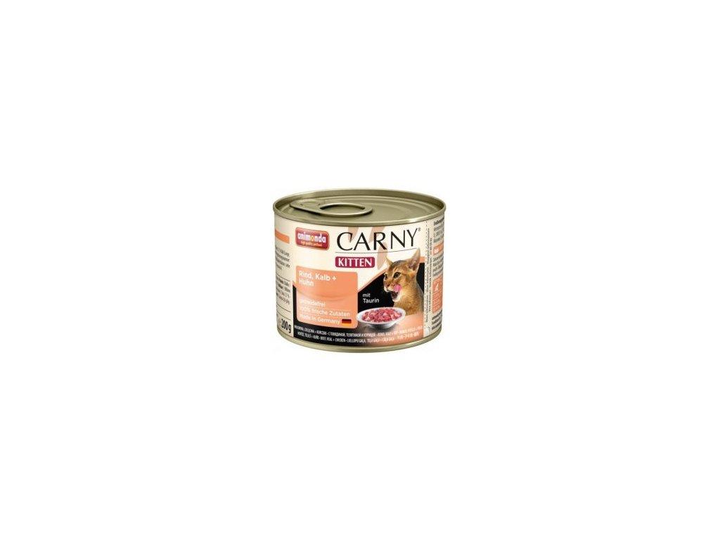 Animonda Carny Junior konzerva pre mačky teľacie + kura 200g