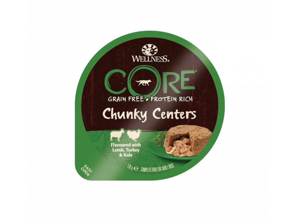 8577 wellness core chunky centers flavoured with lamb turkey kale 170g