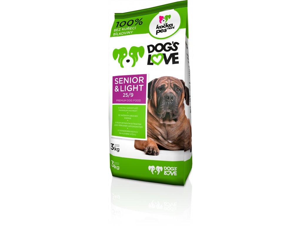 9006 dogs love senior light 3kg