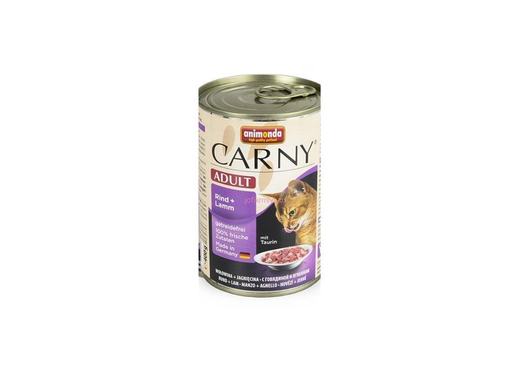 Animonda Carny konzerva pre mačky hovädzie + jahňa 400g