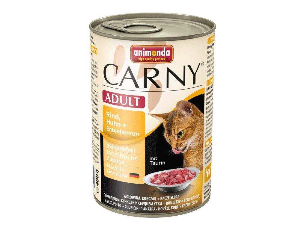 Animonda Carny konzerva pre mačky kura + kačka 400g