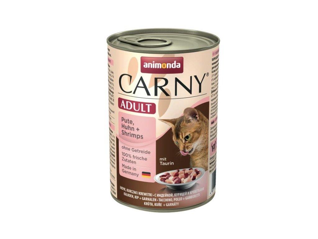 Animonda Carny konzerva pre mačky morka + ráčiky 400g