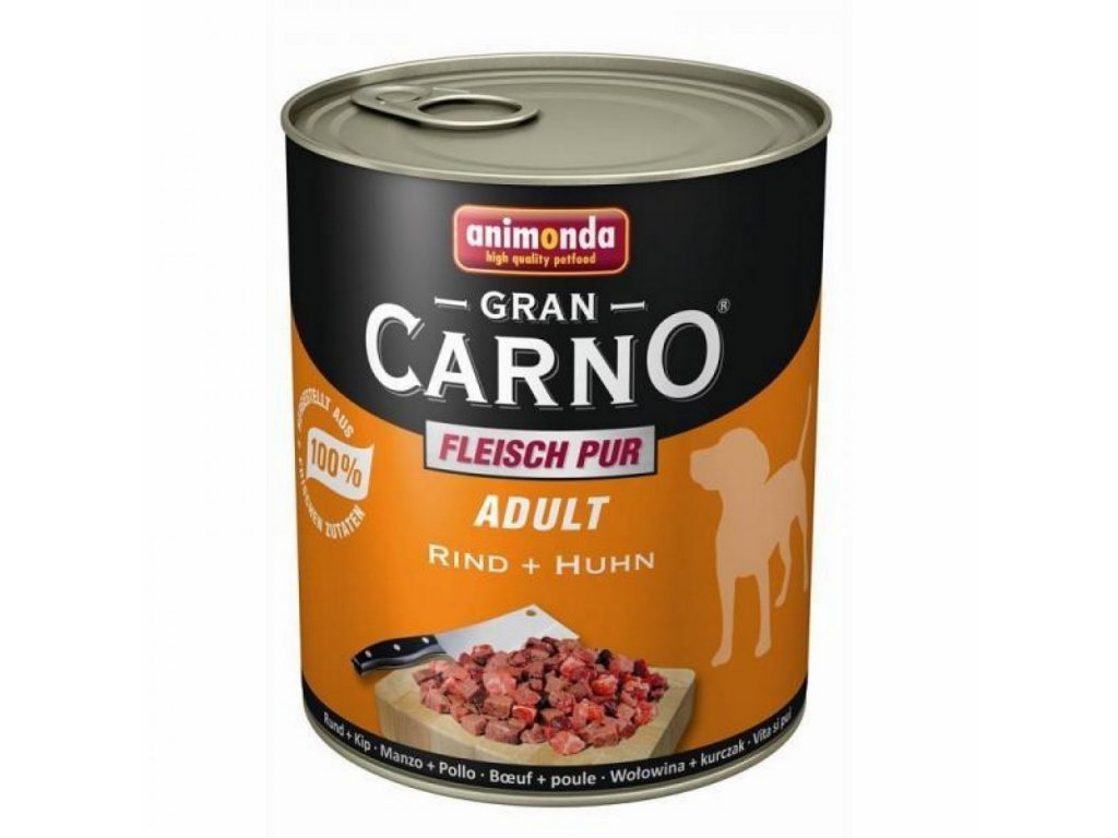 1071 animonda grancarno adult konzerva pro psy hovezi kure 400g