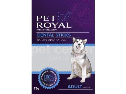 11517 pet royal dog dental sticks zeleno cervena 75g