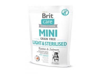 11556 brit care mini grain free light sterilised 400g