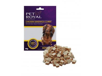 12264 pet royal dog mini kureci sandwich kostky 60g