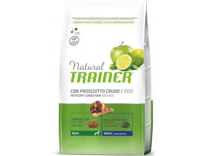 TRAINER Natural Maxi Adult Prosciutto a ryza 12kg