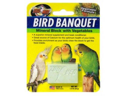 13449 bird banquet mineralni blok se zeleninou s