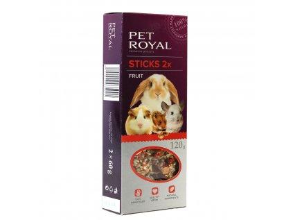 15705 pet royal stick hlodavec ovoce 2ks