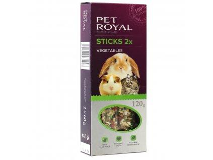 15711 pet royal stick hlodavec zelenina 2ks