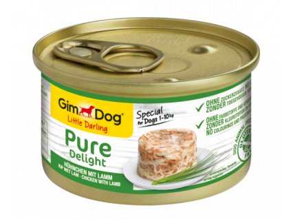 16089 gimdog little darling pure delight chicken with lamb 150g