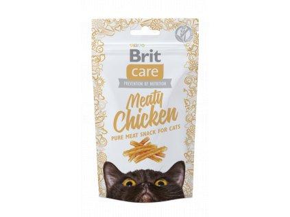 18543 brit care cat snack meaty chicken 50g