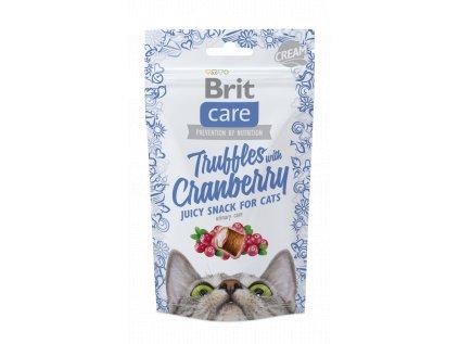 18555 brit care cat snack truffles cranberry 50g