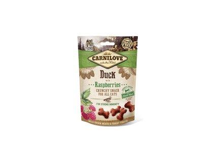 18609 carnilove cat crunchy snack duck raspberries meat 50g