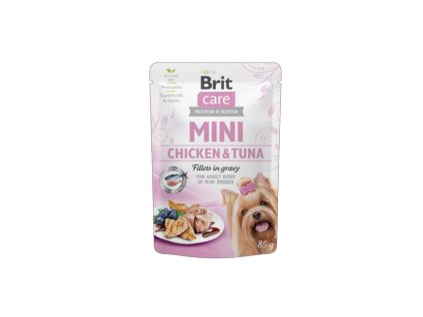 18810 kapsicka brit care mini chicken tuna fillets in gravy 85g