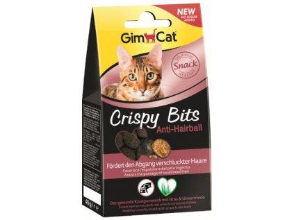 19044 gimcat crispy bits antihairball 40g