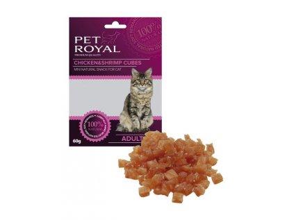 19122 pet royal cat kostky kure a kreveta 60g