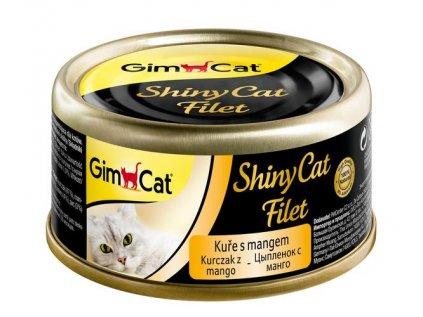 19143 konzerva shiny cat filet kure s mangem 70g