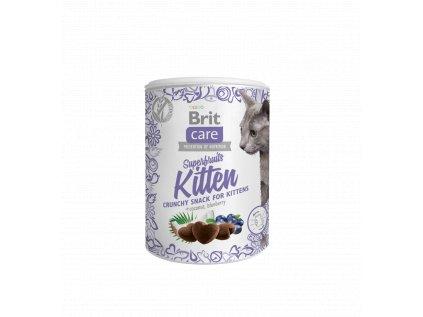 19554 brit care cat snack superfruits kitten 100g