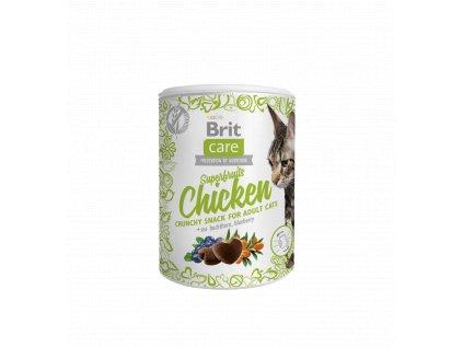 19557 brit care cat snack superfruits chicken 100g